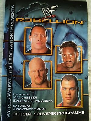 WWE / WWF Rebellion Tour Programme 2001
