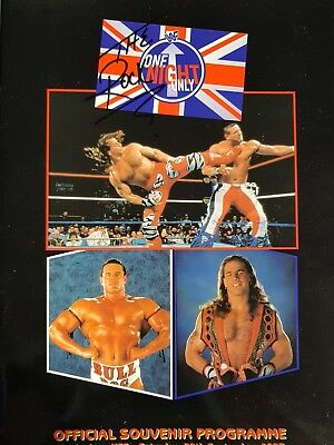 WWE / WWF One Night Only Tour Programme Signed by The Rock & The Undertaker