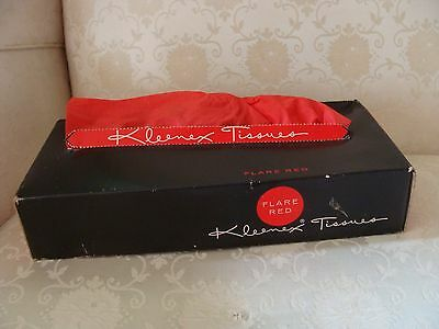 VINTAGE 1930's KLEENEX TISSUES RARE RED FLARE Great Display In Box