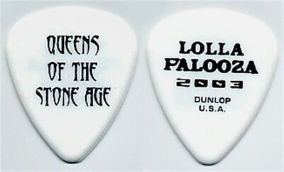 Queens of the Stone Age authentic 2003 LollaPalooza tour white stage Guitar Pick