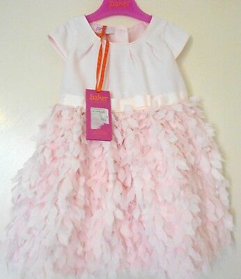 new with tags pale baby pink feathered party 18- 24 Months Girls Ted Baker Dress