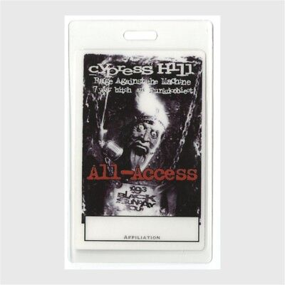 Cypress Hill 1993 Laminated Backstage Pass Black Sunday Rage against the Machine