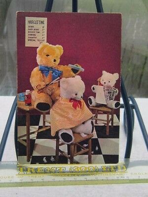 Coloured Postcard(Rp)Teddy Bears'barber Shop-Un Posted-Age Unknown.
