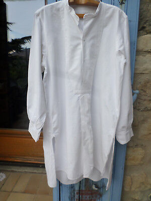 French vintage / antique mens shirt night smock winemakers farmer  Grandad