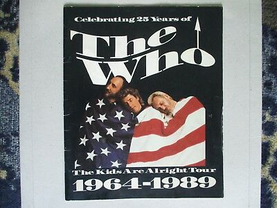 The Who The Kids Are Alright original 1989 Tour Programme
