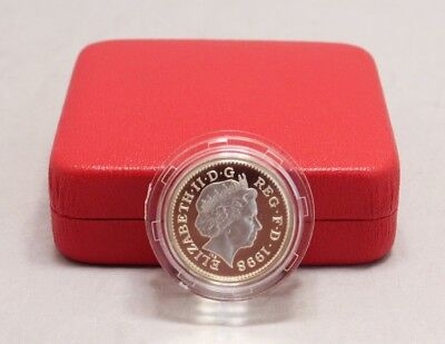 Royal Mint 1998 United Kingdom  Silver Proof Piedford One Pound Coin