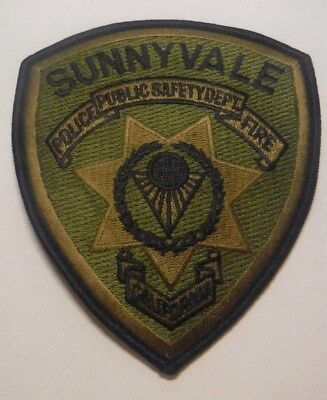 Sunnyvale California Public Safety Police Subdued Patch Unused