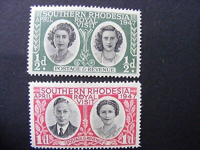 Southern Rhodesia stamps 1947 Royal visit Mint hinged