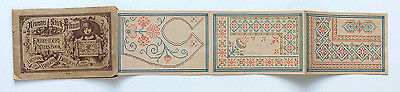 Antique German 19c. cross stitch embroidery pattern booklet - heart dress front