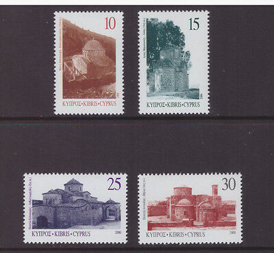 Cyprus 2000 Churches Architecture set mint MNH stamps