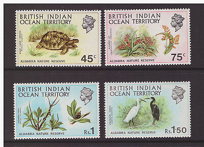 British Indian Ocean Territory 1971 Aldabra Nature Reserve MNH mint set