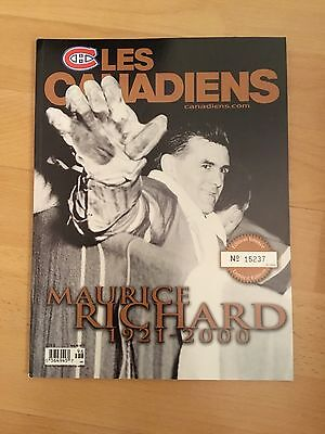 Les Canadiens Magazine Limited Edition Maurice Richard 1921-2000