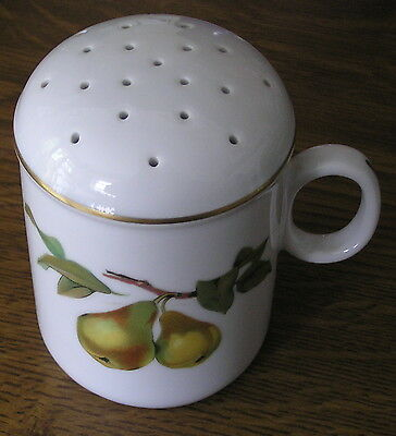 UNUSUAL ROYAL WORCESTER EVESHAM FLOUR SHAKER with stopper