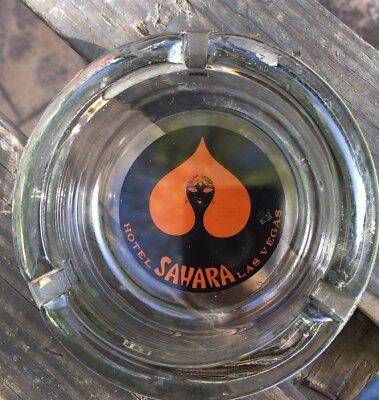 Old Glass Ashtray Advertising Sahara Hotel & Casino Las Vegas NV Nevada