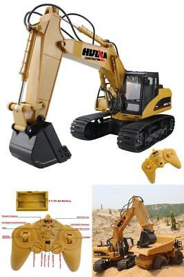 Remote Control Excavator Crawler Truck Digger Game Toy Machinery Car Model 15CH