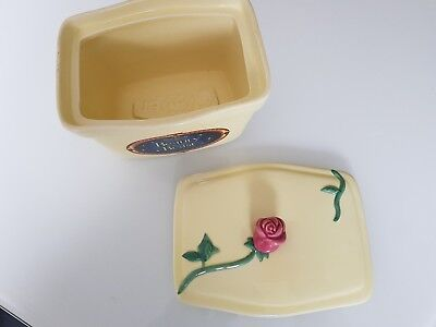 Collectible Clover Butter Dish. Disney Beauty & Beast.special Edition.