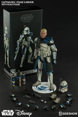 """Sideshow Collectibles Exclusive Star Wars 12"""" Captain Rex Phase II (phase 2)"""