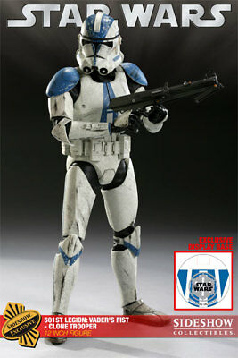 """Sideshow Collectibles Exclusive Star Wars 12"""" 501st CloneTrooper"""