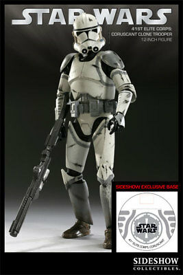 """Sideshow Collectibles Exclusive Star Wars 12"""" 41st Coruscant Clone Trooper"""