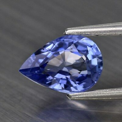 0.81ct 7x4.8mm VVS Clean Pear Natural Blue Sapphire Ceylon, Heated Only