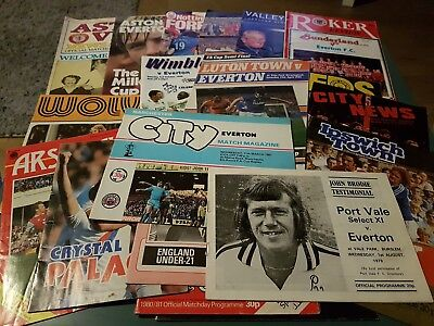 Everton FC Away Match Programmes from 1970s, 80s & 90s - Arsenal, Man City etc