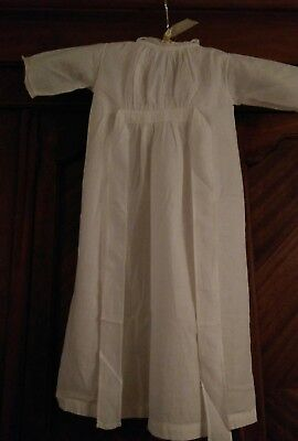 Antique Victorian Edwardian child's cotton lawn lace nightgown