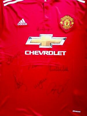 Legit Hand Signed class of 92 Man United Shirt, Beckham, Giggs, Scholes, Butt