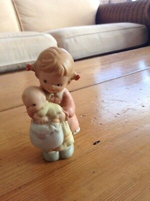 Enesco Mabel Lucie Attwell ornament. Little girl with baby. Perfect condition.