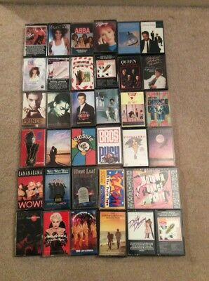 cassette Tapes x 35 job lot Mainly 80's