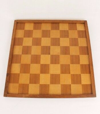 Vintage Or Antique Jacques Style Veneer Wood Chess Board Double Sided