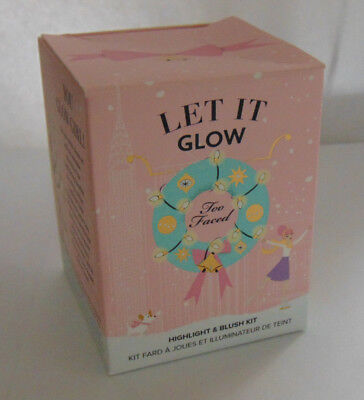 TOO FACED LET IT GLOW Highlight & Blush Kit NIB
