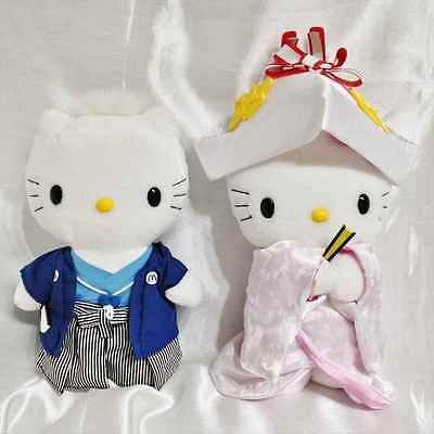 Hello Kitty and Daniel stuffed plush doll Japan Wedding japan limited