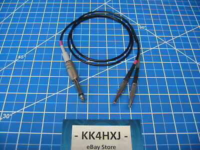 Custom Signal Generator Test Lead - Heathkit SG-6/SG-7 - RG174 thin cable