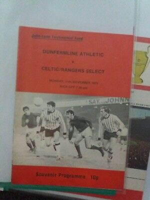 dunfermline v rangers/ celtic select 1974