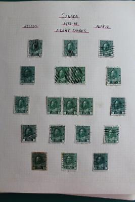 CANADA - Interesting and Useful KGV Stamp Collection 1912-35 inc coils