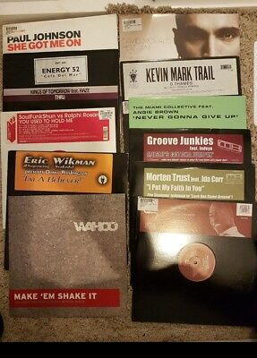 """Collection of 77 12"""" vinyls all from around mid 2000's"""
