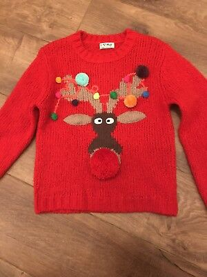 Girls Next Christmas Jumper Size 8 Years