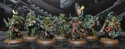 Wh40K Death Guard - Plague Marines - Painted As Pictured