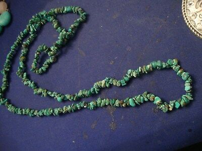 Grandmas Estate Beautiful  Western Turquoise Chunky Necklace