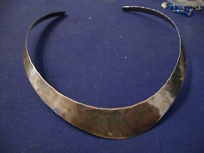 Grandmas Estate Old Pawn Western Sterling Silver Big Chunky Necklace