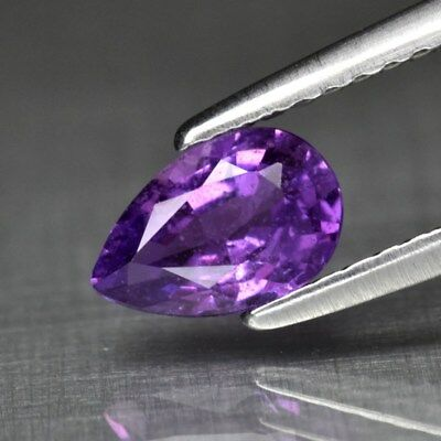 Twinkling! 0.83ct 7x4.5mm Pear Natural Unheated Untreated Purple Sapphire
