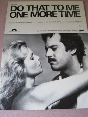DO THAT TO ME ONE MORE TIME Captain & Tennille Song Sheet Music 1979 NM