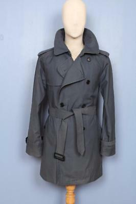 Mens BURBERRY Double Breasted Short TRENCH Coat Mac Size 36/38 S/M