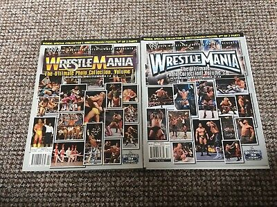 WWF/ WWE, Set Of 2  Wrestlemania Photo CollectionMagazines,WCW,ECW,TNA,very Rare