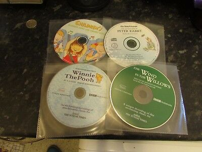4 x Children's Audio CD - Winnie The Pooh, Peter Rabbit, Wind In The Willows