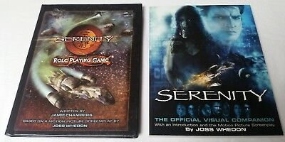 SERENITY ROLE PLAYING GAME RPG Firefly Joss Whedon + Visual Companion