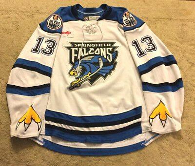 Vintage Reebok Springfield Falcons Ahl Game Jersey 7187H
