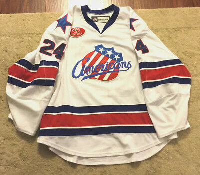Vintage Rochester Americans Reebok Ahl Game Jersey 7187A