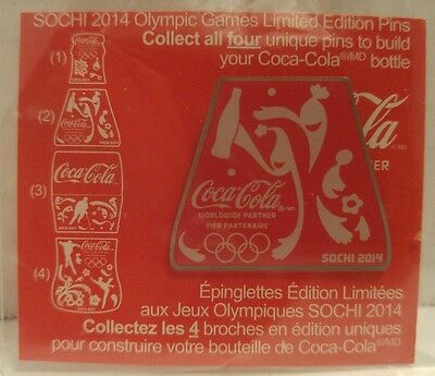 Coca-Cola SOCHI 2014 OLYMPIC GAMES LIMITED EDITION PINS Coke Bottle #2/4 NEW