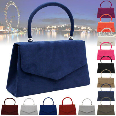 Vintage Faux Suede Bags Women Shopping Tote Envelope Clutch Bag Evening Party